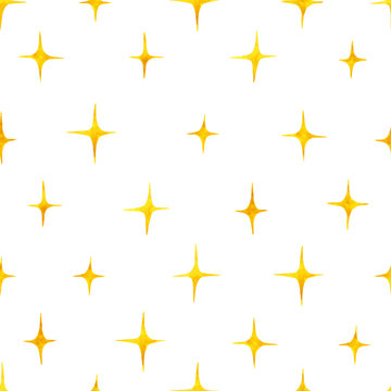 Seamless pattern with watercolor hand drawn shining stars