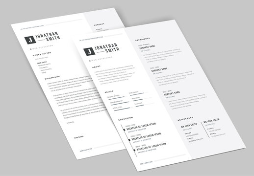Classic Resume and Cover Letter Set