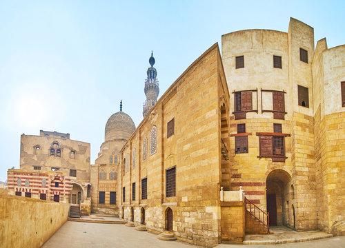 The buildings of Amir Khayrbak Funerary Complex, Cairo, Egypt