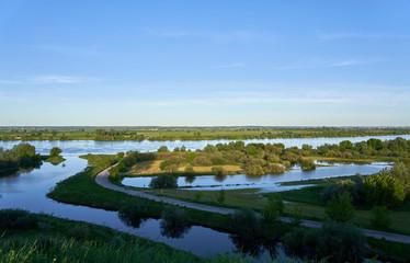 Fototapeta Ujście rzeki Wierzyca do Wisły obraz