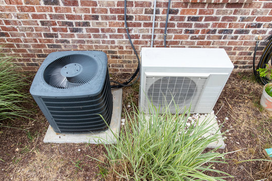 HVAC Air Conditioner Compressor and a Mini-split system together