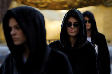 """Model Kendall Jenner walks the runway during rehearsals for the presentation of Alexander Wang's """"AW Collection 1"""" at the Rockefeller Center in New York"""