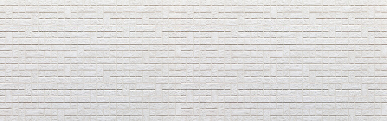 Panorama of White concrete or cement modern tile wall background and texture