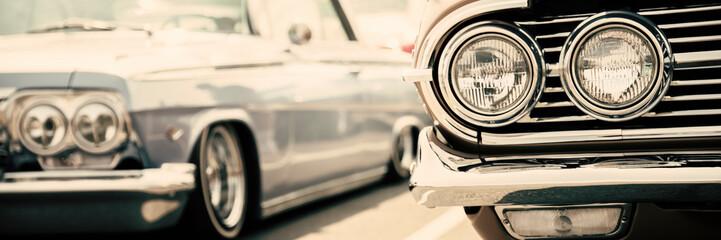 Fotomurales - Old America cars street display