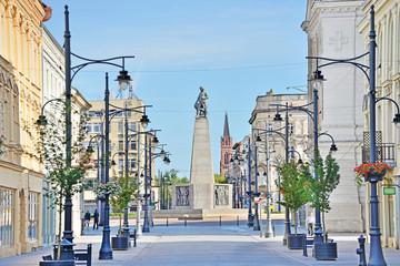 Obraz Łódź - widok na Plac Wolności - fototapety do salonu