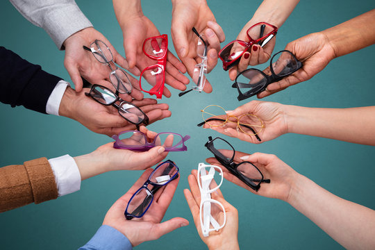 Group Of Peoples Showing Variety Of Spectacles