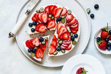 Summer Berry No Bake Cheesecake