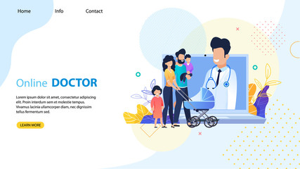 Online Doctor for Whole Family Landing Page Mockup