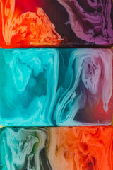 Pastel colors Natural Luxury. Marbleized effect. Modern abstract art