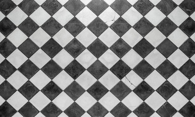 Obraz carrelage à l'ancienne, noir et blanc  - fototapety do salonu