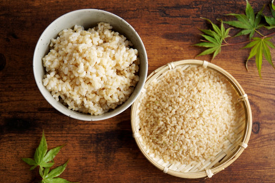 玄米とご飯