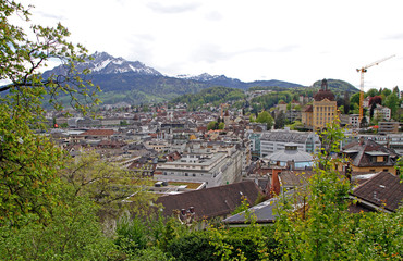 the cityscape of city Luzern in Switzerland