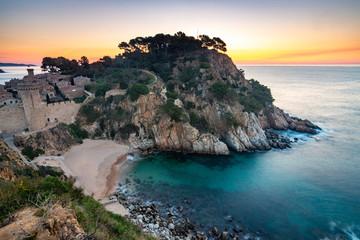 Sunrise Over the Historic Vila Vella - Tossa de Mar, Spain