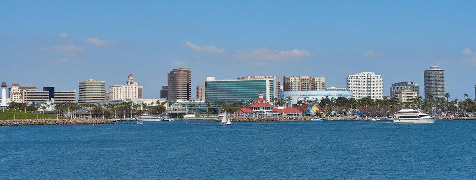 Panoramic view of Long Beach Coastline