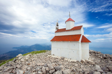 Amazing Orthodox church on the mount Rumija