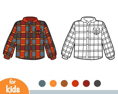 Coloring book, Men's Scotch plaid shirt