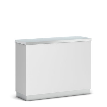 Blank counter stand mockup