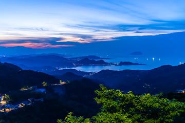 台湾 九份(九ふん)周辺夕景