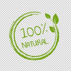 Fototapeta 100% Natural Product Transparent Background obraz