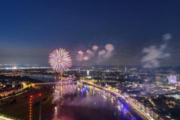 Feuerwerk Düsseldorf Japantag