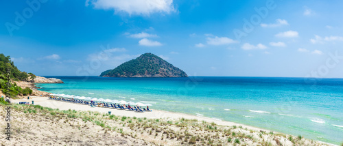 Wall mural Landscape with amazing Paradise Beach on Thassos, Aegean Sea, Greece