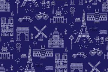 Paris pattern seamless geometric design