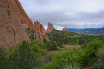 Colorado Springs, Garden of the Gods red rocks landscape