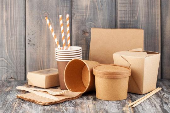 Craft paper tableware