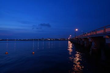 江の島の海とクリスタルボール