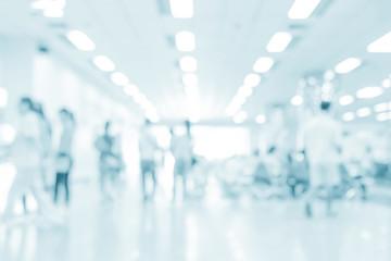 Fototapeta Blurred interior of hospital - abstract medical background. obraz