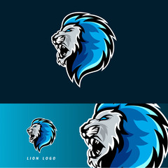 Lion esport gaming mascot logo template