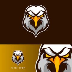 Eagle esport gaming mascot logo template