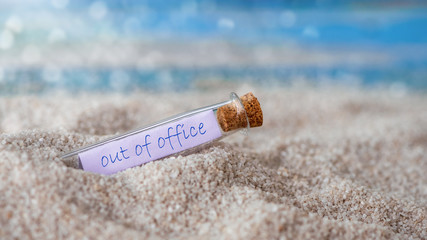 Message in a bottle: out of office