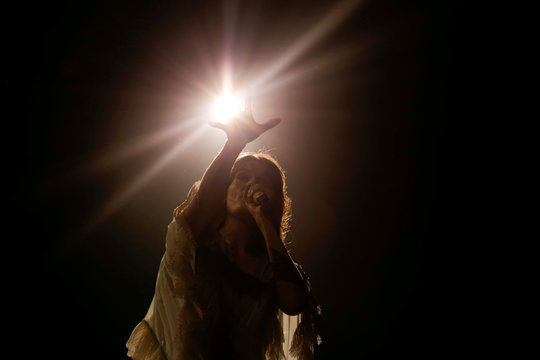 Singer Florence Welch of Florence and the Machine performs during the Governors Ball Music Festival at Randall's Island Park in New York