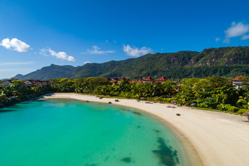 View of Eden Island Mahe Seychelles at sunny weather