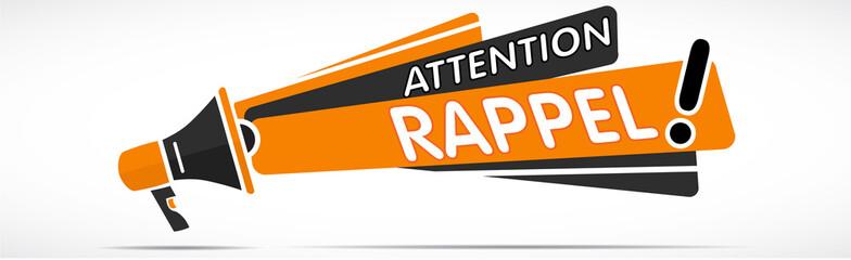 Mégaphone : attention rappel