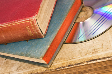 Old books and disc