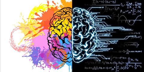 Creative brain sketch Wall mural