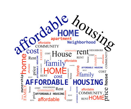 Affordable Housing word cloud