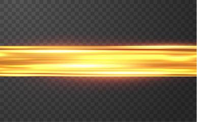 Golden shiny light lines vector background. EPS10 Wall mural