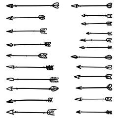 Illustration of native american arrows on white. Design element for poster, card, banner, flyer, menu. Vector illustration