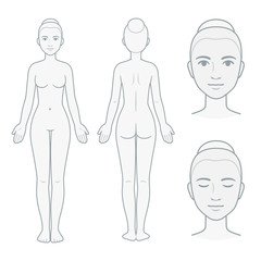 Female body and face chart