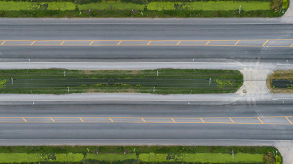 Fotomurales - Aerial view over the road and highway