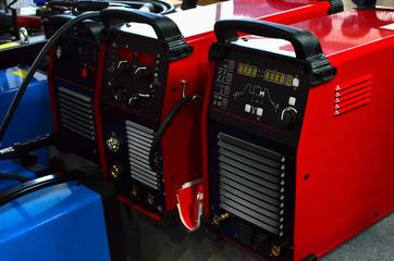 Inverter welding MIG machine. Equipment for welding metals in a protective inert gas environment. - Image