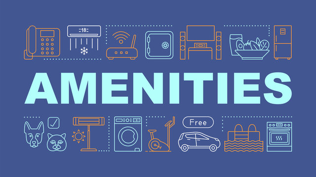 Amenities word concepts banner