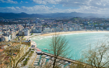 City View from Monte Urgull - San Sebastián, Spain