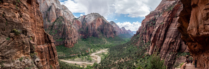 Wall Murals Deep brown Panorama of Zion National Park