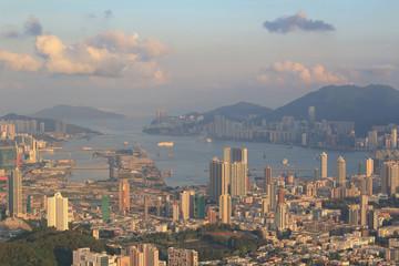 Hong Kong city of kowloon at 2014
