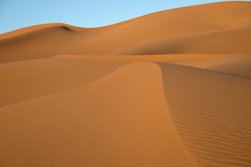 Poster de jardin Desert de sable The Sahara Desert in Morocco with its patterns and dunes
