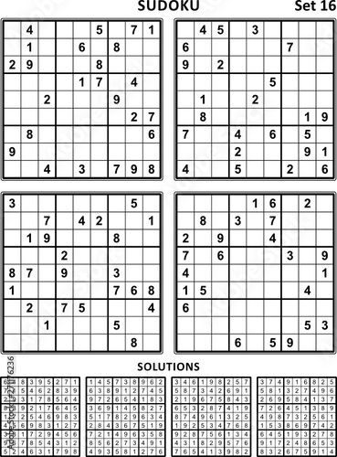 image about 16 Square Sudoku Printable known as 4 sudoku puzzles of gentle (basic, however not exceptionally uncomplicated
